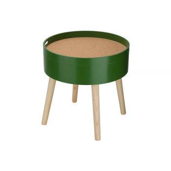 Cosy @ Home Bijzettafel Cork Groen 45x45xh45cm Rond