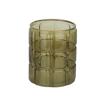 Cosy @ Home Windlicht Groen 12x12xh15cm Rond Glas