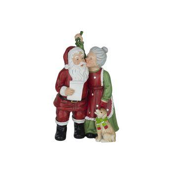 Cosy @ Home Santa Miss Claus Rood 15x11xh25,5cm Resi