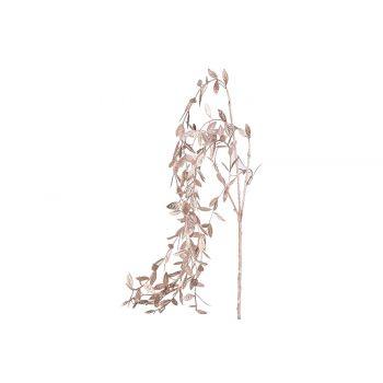 Cosy @ Home Decotak Metallic Leaves Roze 5x5xh85cm K