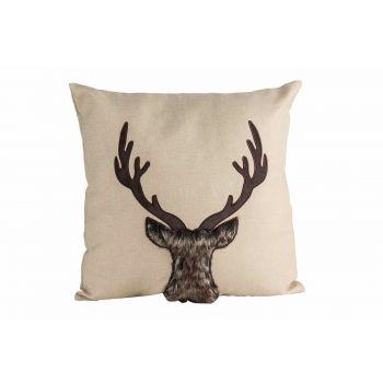 Cosy @ Home Kussen Deer Natuur 45x10xh45cm Polyester