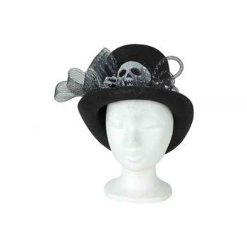 Cosy @ Home Hoed Skulls Zwart 30x25xh20cm Textiel