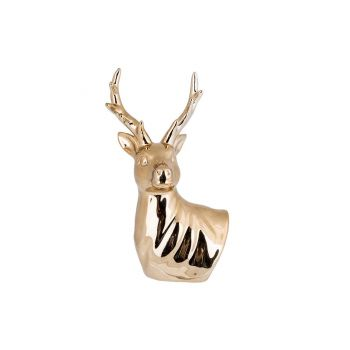 Cosy @ Home Buste Deer Goud 10,8x9xh19,3cm Kera