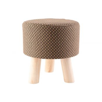 Cosy @ Home Poef Bruin 28x28xh30cm Hout