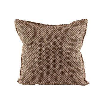 Cosy @ Home Kussen Bruin 45x45xh10cm Textiel