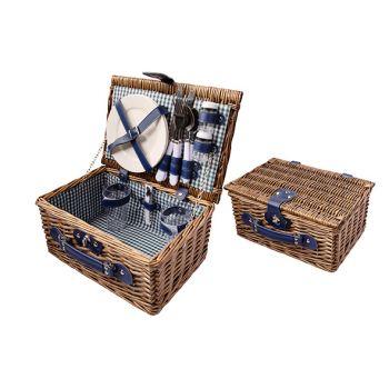 Cosy & Trendy Picknickmand 2p Bruin 33x22x16cm Bestek