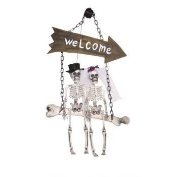 Cosy @ Home Skelet Welcome Natuur 40x20xh64cm Kunsts