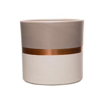 Cosy @ Home Bloempot Duo Color Taupe-white Copper Li