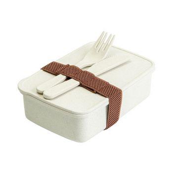 Cosy & Trendy Eco-fibre Lunchbox Vork Mes Wit