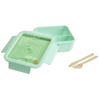 Cosy & Trendy Eco-fibre Lunchbox Groen Bestek Bruin