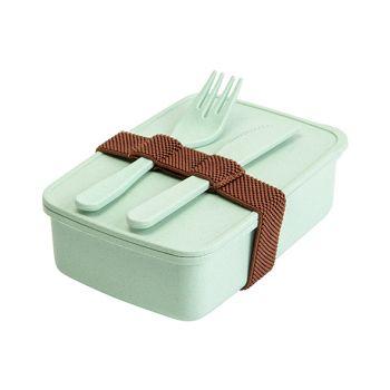Cosy & Trendy Eco-fibre Lunchbox Mes Vork Groen