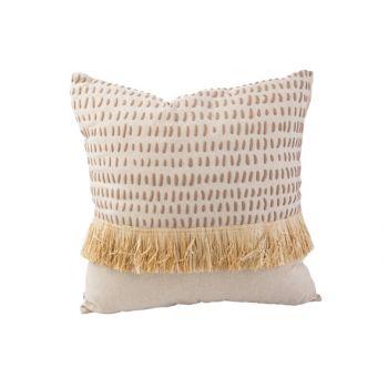 Cosy @ Home Kussen Straw Natuur 45x45xh10cm Textiel