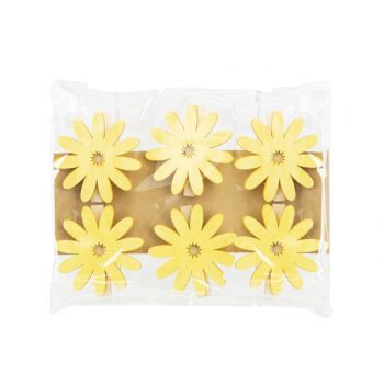 Cosy @ Home Knijper Set6 Sunflower Geel 6x,5xh6cm Ho