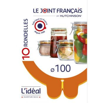 Le Joint Francais Ideal Inmaakring 100 Set10 Rood 11x5,6cm