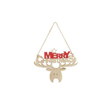 Cosy @ Home Hanger Merry Christmas  Rood 29x1xh24cm