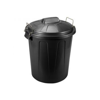 Hega Hogar Afvalemmer Zwart 100l D50xh76cm Poly Pro