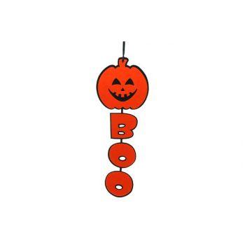 Cosy @ Home Hangdeco Pompoen+boo 60cm Oranje&