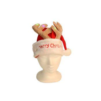 Cosy @ Home Kerstmuts Verlicht Hertengewei