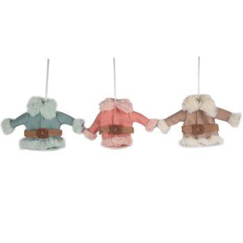 Cosy @ Home Textiel Jasje Met Riem 3 Types Roze-groen-