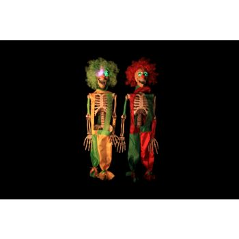 Cosy @ Home Skelet Clown Rood Groen Led 2 Types 75cm
