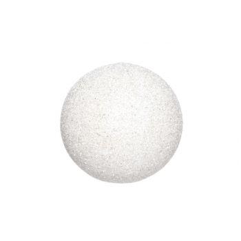 Cosy @ Home Sneeuwbal Wit Glitter 35cm