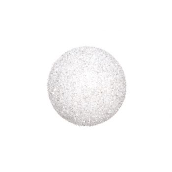 Cosy @ Home Sneeuwbal Wit Glitter 15cm