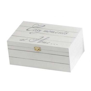 Cosy & Trendy Cmh Deco-doos Wit 18.5x11.5xh7cm Hout