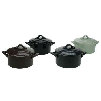 Cosy & Trendy Ovenschotel Rond M/dek. D10xh5 Set 4 Types