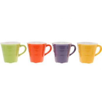 Cosy & Trendy Tas Set 4 Types Lila-groen-oranje-geel 23cl