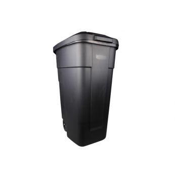 Curver Afvalbak Zwart 110l 58x52xh88cm Verrijdb