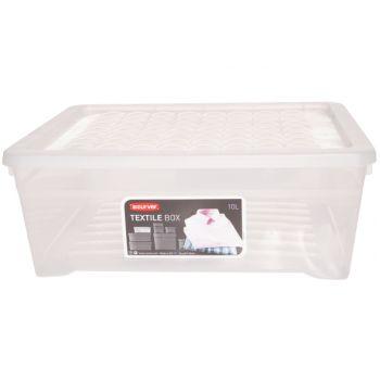 Curver Textielbox Opbergbox Transparant 10l 34,