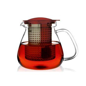 Finum Theekan En Filter Rood 1,0l Tea Control