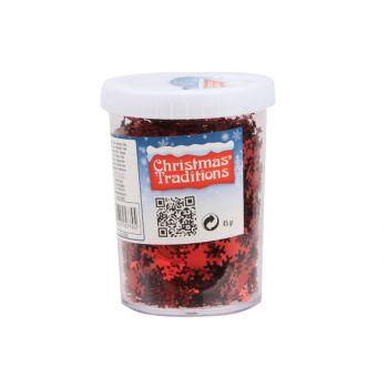 Goodmark Confetti Sneeuwvlokken Rood 45g /tube