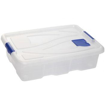 Hega Hogar Textielbox Box Op Wielen Transparant 28l