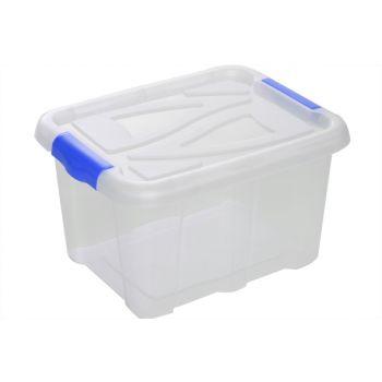 Hega Hogar Textielbox Box Transparant 17l 40x32x22c