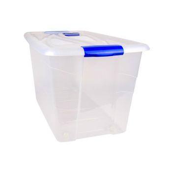 Hega Hogar Textielbox Box Met Wielen Transparant 90