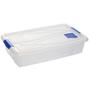Hega Hogar Textielbox Box Met Wielen Transparant 42