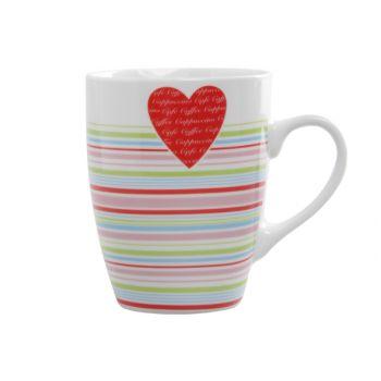 Cosy & Trendy Love Heart Beker 33cl D8xh10,5cm