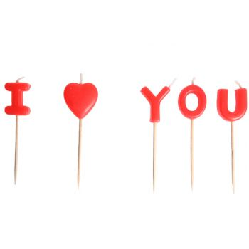 Cosy & Trendy Mini-kaars I Love You Set5 8cm