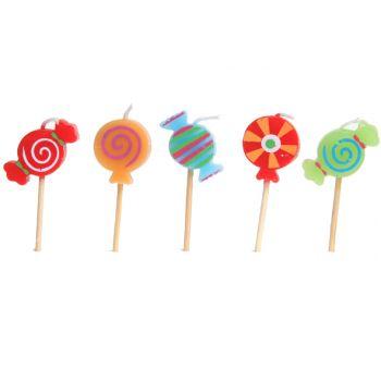 Cosy & Trendy For Kids Kids Mini Kaars Candy H7cm Set5