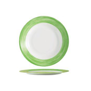 Arcoroc Brush Plat Bord Groen 23,5cm