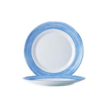 Arcoroc Brush Plat Bord Blauw 23,5cm