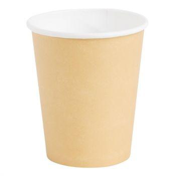 Fiesta koffiebekers enkelwandig lichtbruin 23cl