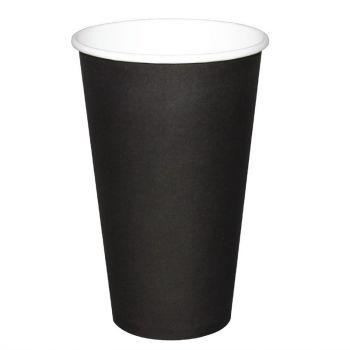 Fiesta koffiebekers enkelwandig zwart 45cl
