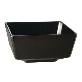 APS Float vierkante melamine kom zwart 12.5x12.5cm