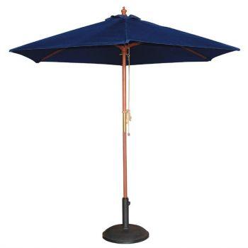 Bolero ronde donkerblauwe parasol 2.5 meter