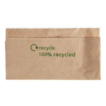 Composteerbare servetten van kraftpapier 32x30cm