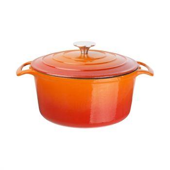 Vogue ronde braadpan oranje 4L