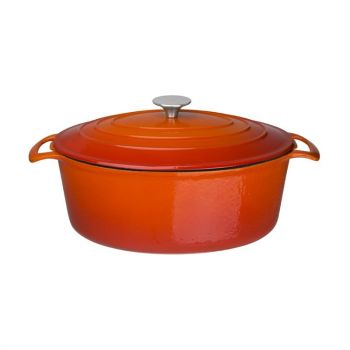 Vogue ovale braadpan oranje 6L