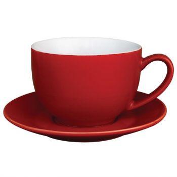 Olympia Café cappuccinokoppen rood 34cl